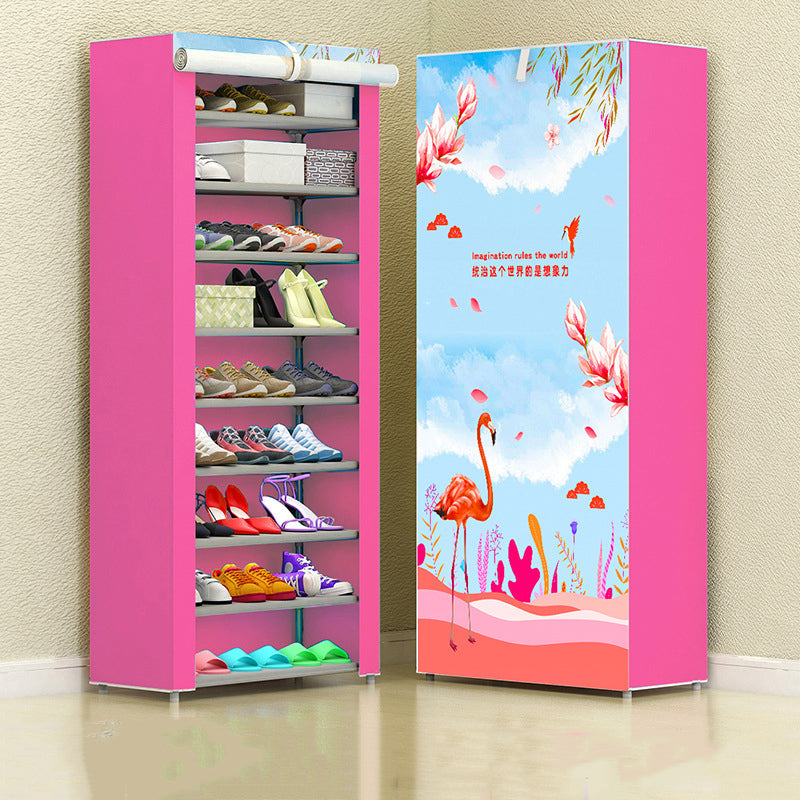 10 Floors Shoe Racks Wall Shelf Closet Organizer Storage Box Stand