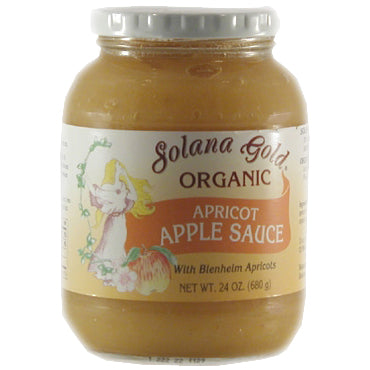 Apricot Apple Sauce, Organic-Glass