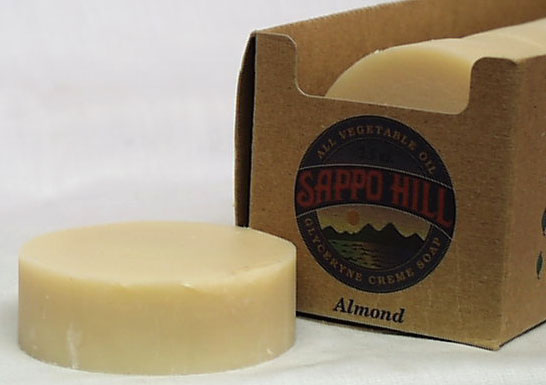 Almond Bar Soap (White)