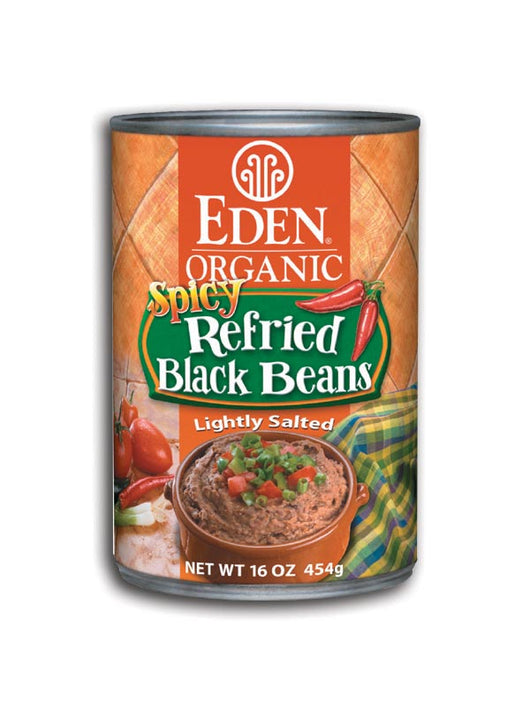 Spicy Refried Black Beans, Organic
