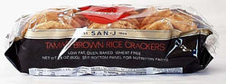 Wheat-free Tamari Brown Rice Cracker