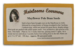 Mayflower Pole Bean Seeds