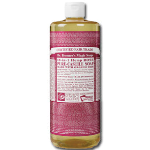 Rose Liquid Castil Soap, Organic