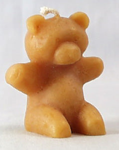 Candle - Sitting Teddy Beeswax 2.6
