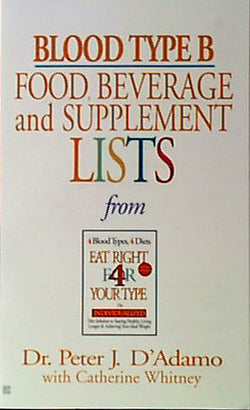 Blood Type B Food, Bev/Supplement Li