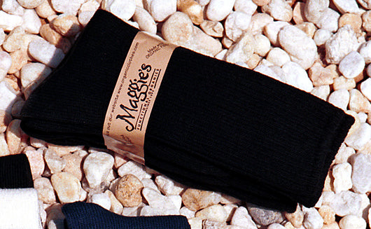 Crew Socks, Black, Organic 10-13
