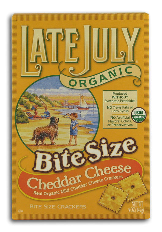Bite Size Cheddar Crackers, Org