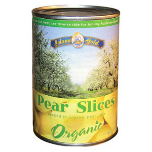 Pear slices, Organic-Canned