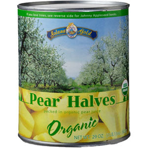 Pear Halve, Organic-Canned