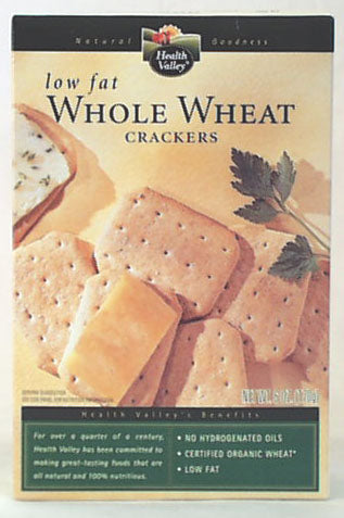 Whole Wheat Crackers, Org - Low Fat