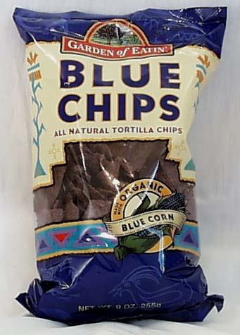 Blue Corn Tortilla Chips, Salted