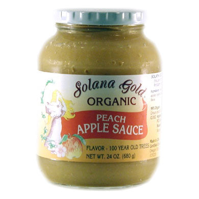 Peach Apple Sauce, Organic-Glass