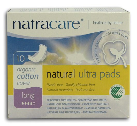 Ultra Long Pads with Wings, Natural