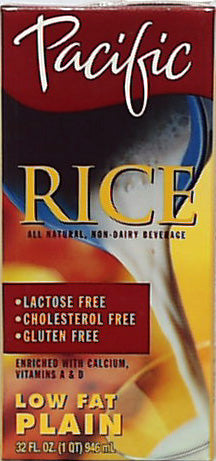 Rice Milk, Plain, Low Fat, Non-Dairy