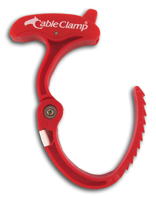 Cable Clamp, Medium, Red
