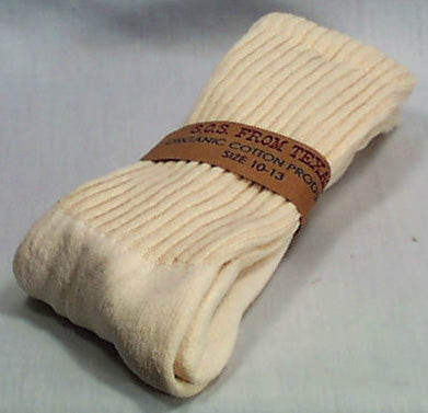 Crew Socks, Organic, Natural 10-13