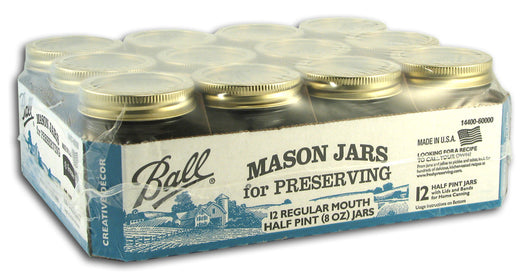 Regular Canning Jars, 1/2 pint size