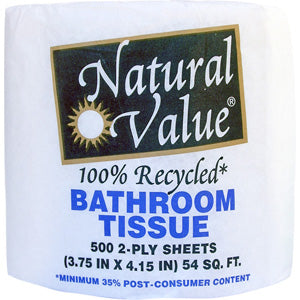 Bath Tissue 500 2ply sheets-Recycled
