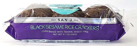 Wheat-free Black Sesame Rice Cracker
