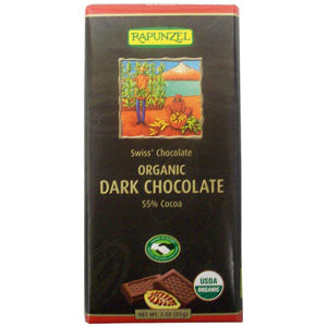 Dark Chocolate, 55% Cocoa, Organic