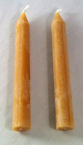 Candles -PAIR Standard Taper Beeswax