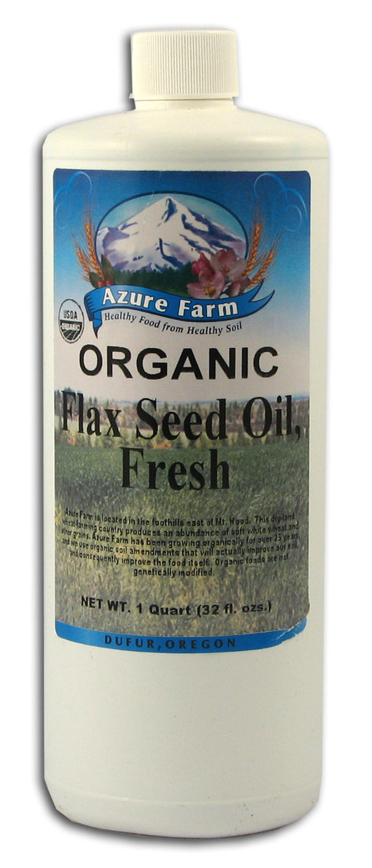 Flax Seed Oil, Fresh, Organic