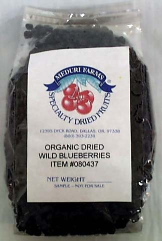 Blueberries, Wild, Dried, Organic
