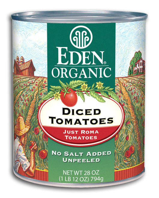 Diced Tomatoes, Just Romas, Org