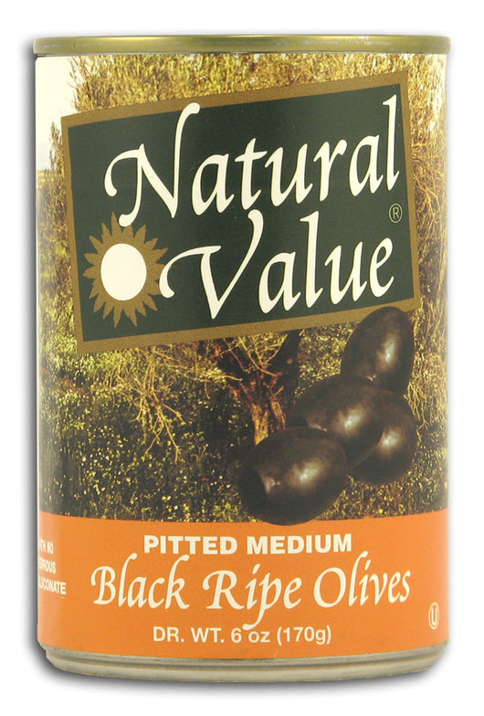 Black Olives, Pitted,Natural
