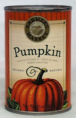 Pumpkin, Canned, Organic