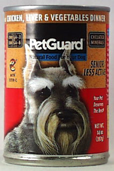 PetGuard Chicken,Liver&Veg Dinner,Sr