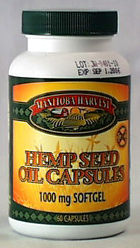 Hemp Seed Oil Capsules, 1000mg
