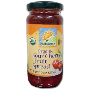 Sour Cherry Fruit Spread, Organic