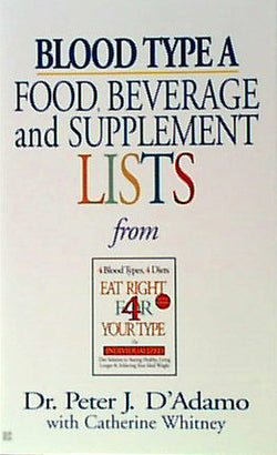 Blood Type A Food, Bev/Supplement
