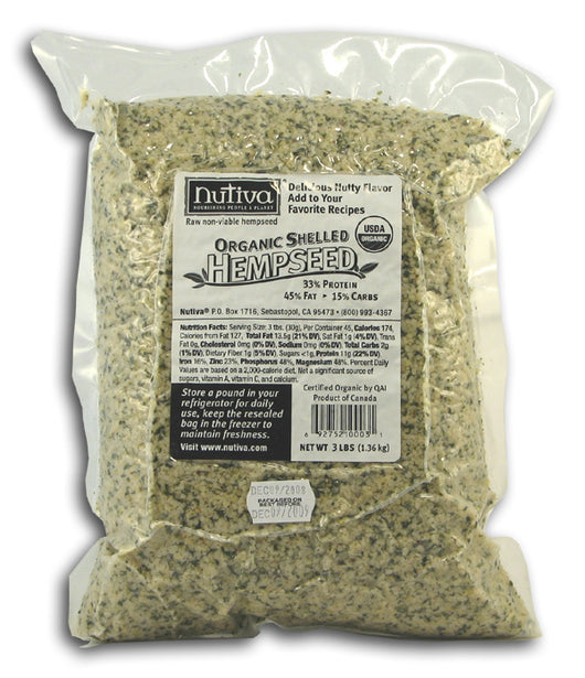 Hempseed, Shelled, Organic (Bag)