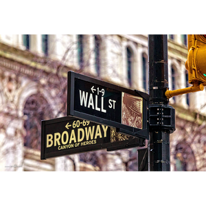 Wall St & Broadway sign - NY065