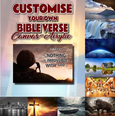 Customise Your Own Bible Verse - BV999