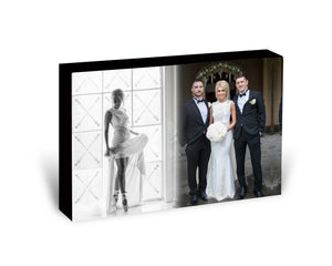 2 Photos - Wooden Photo Block