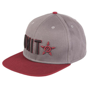 UNIT CASUAL HEADWEAR MENS CAP TURNOVER BURGUNDY