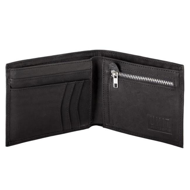 UNIT MENS LEATHER WALLET COMPTON BLACK