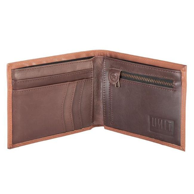 UNIT MENS LEATHER WALLET COMPTON BROWN