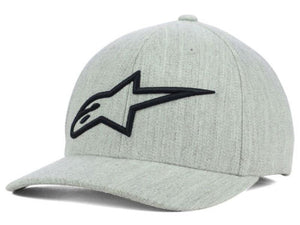 ALPINESTARS LOGO ASTAR FLEXFIT HAT HEATHER/GREY/BLUE