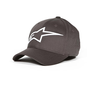 ALPINESTARS LOGO ASTAR FLEXFIT HAT CHARCOAL/WHITE