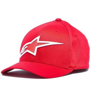ALPINESTARS LOGO ASTAR FLEXFIT HAT RED/WHITE