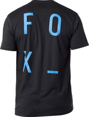 FOX STACKED TEE - BLACK