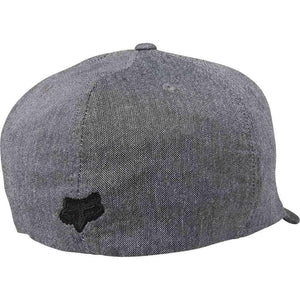 FOX NUMBER 2 FLEXFIT HAT - HEATHER BLACK