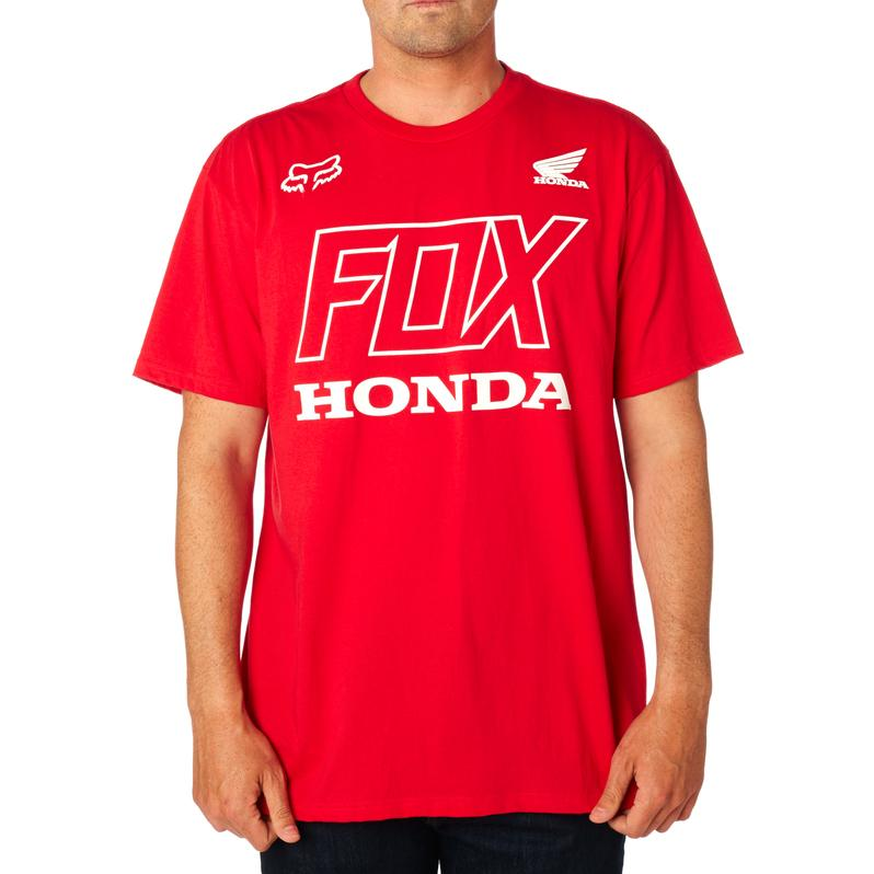 FOX HONDA TEE- DARK RED