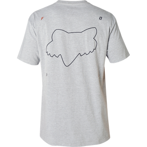 FOX NU METAL TEE LIGHT HEATHER GREY - EXTRA LARGE ONLY