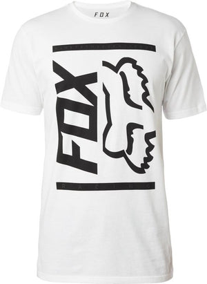 FOX SIDE BARRED TEE - OPTIC WHITE