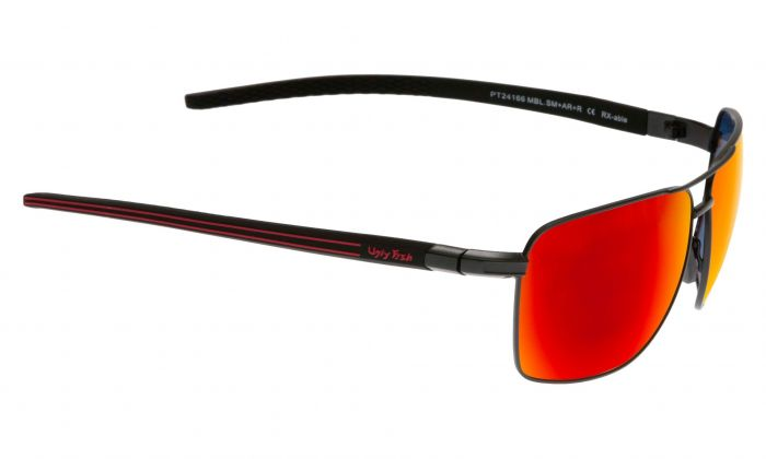 UGLY FISH PT24166 MATT BLACK FRAME RED REVO LENS